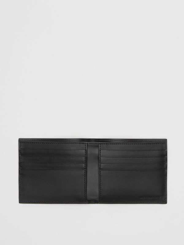 Vintage Check International Bifold Wallet in Black - Men | Burberry Australia - cell image 3