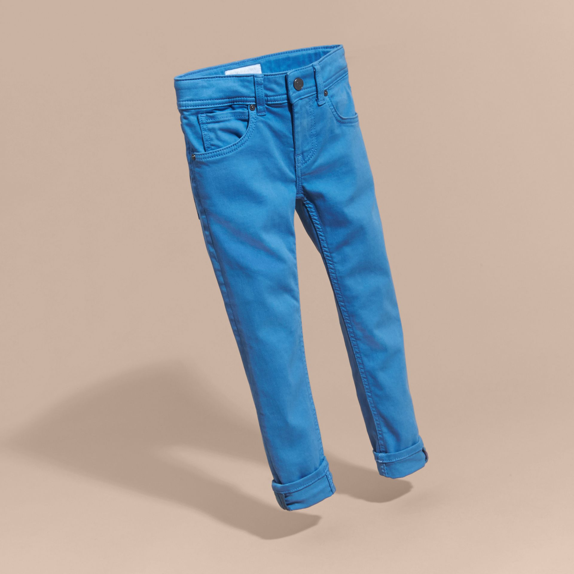 Skinny Fit Jeans in Hydrangea Blue - gallery image 3