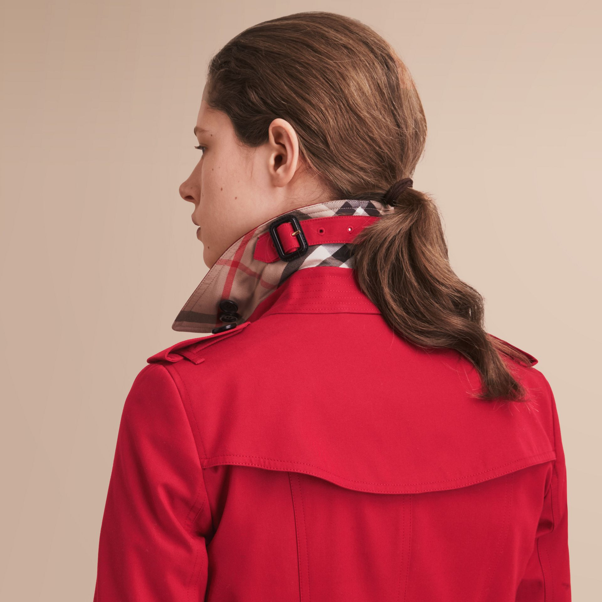 The Chelsea – Long Heritage Trench Coat in Parade Red - gallery image 5