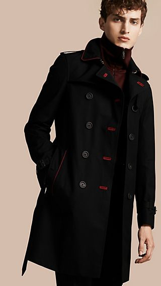 Military Detail Cotton Trench Coat