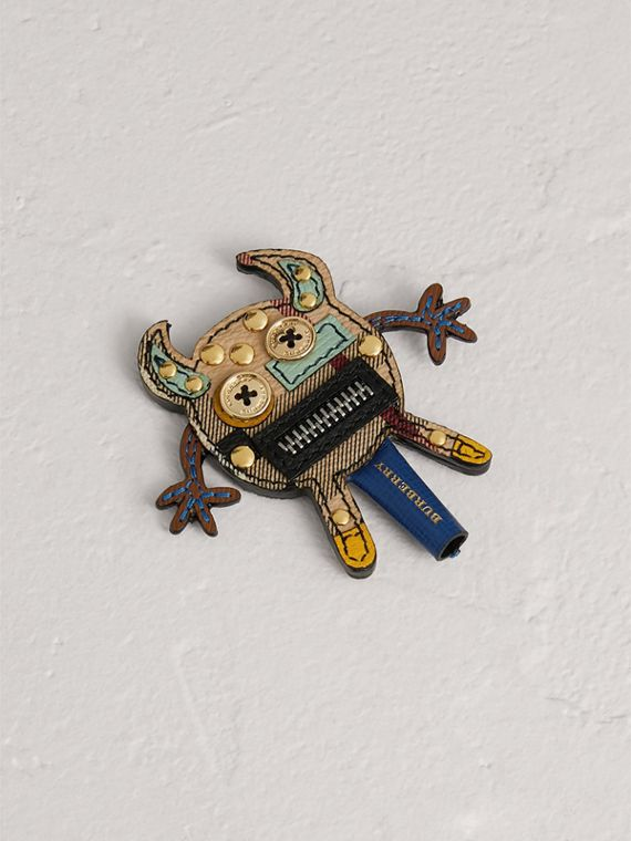 Creature Appliqué Leather Trim Pencil Topper in Multicolour
