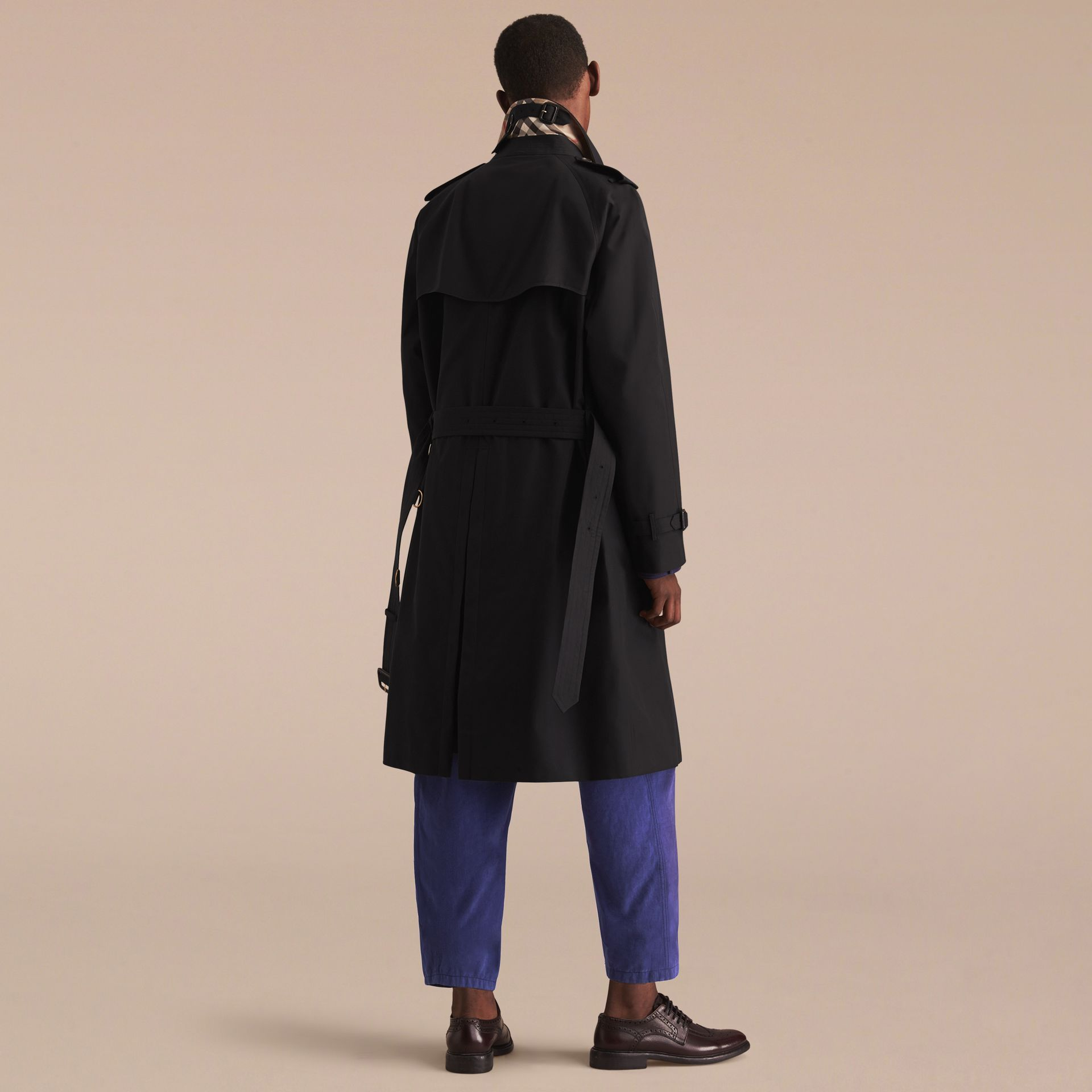 Black The Westminster – Long Heritage Trench Coat Black - gallery image 4