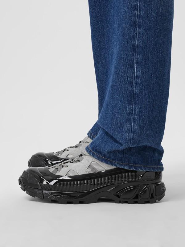 尼龍及麂皮 Arthur 運動鞋 (灰藍色) | Burberry - cell image 2