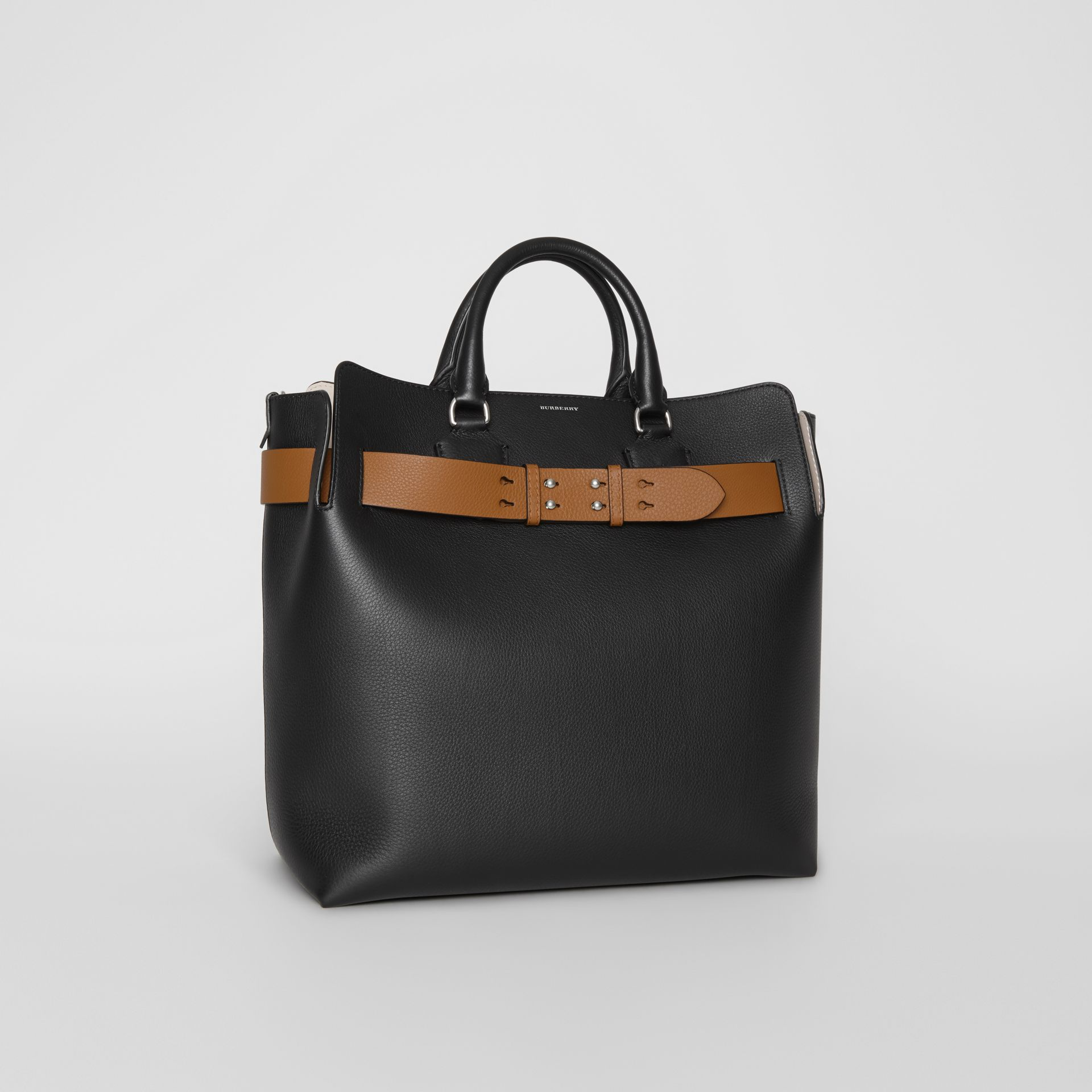 The Large Leather Belt Bag in Black - Women | Burberry - gallery image 4