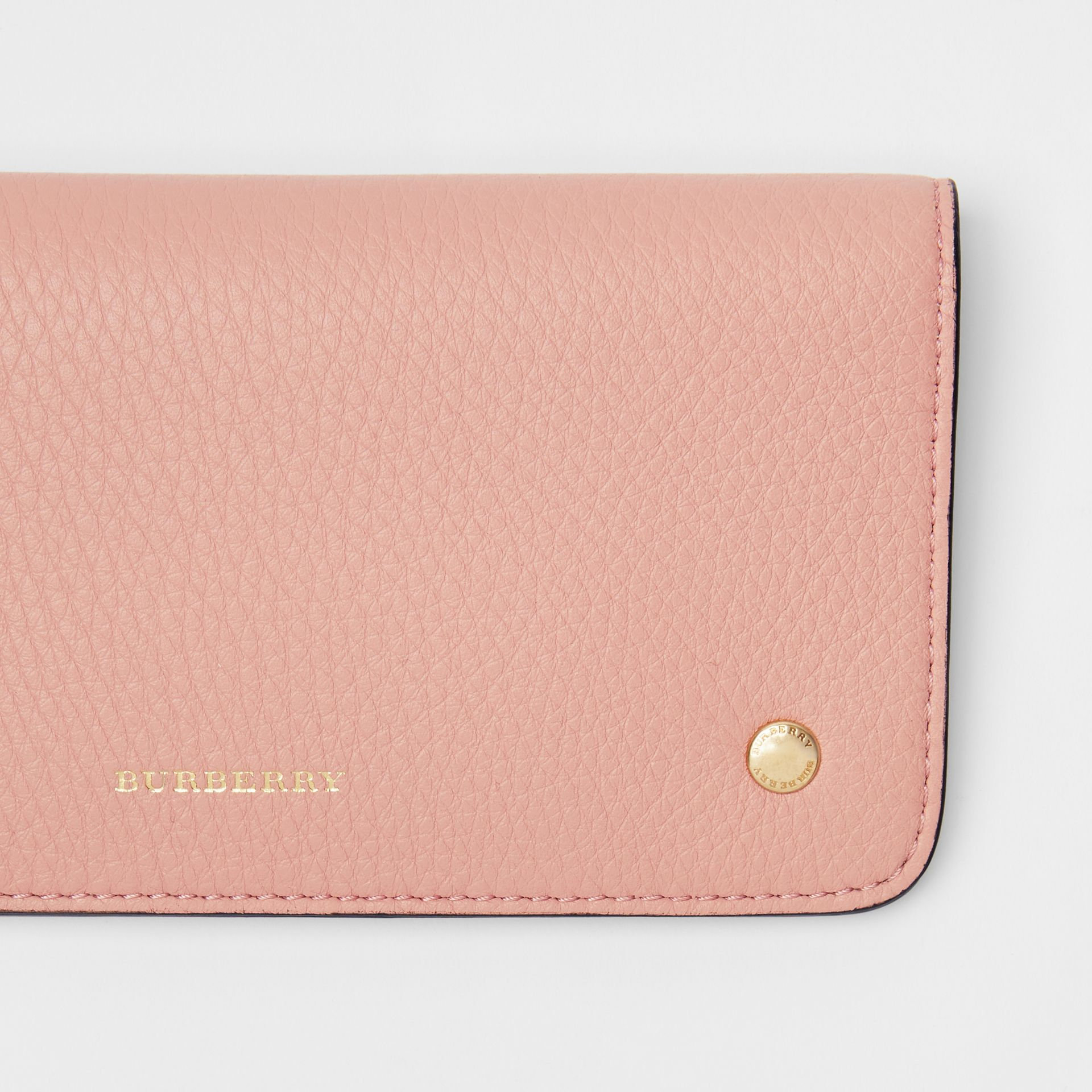 Leather Phone Wallet in Ash Rose - Women | Burberry United States - gallery image 1