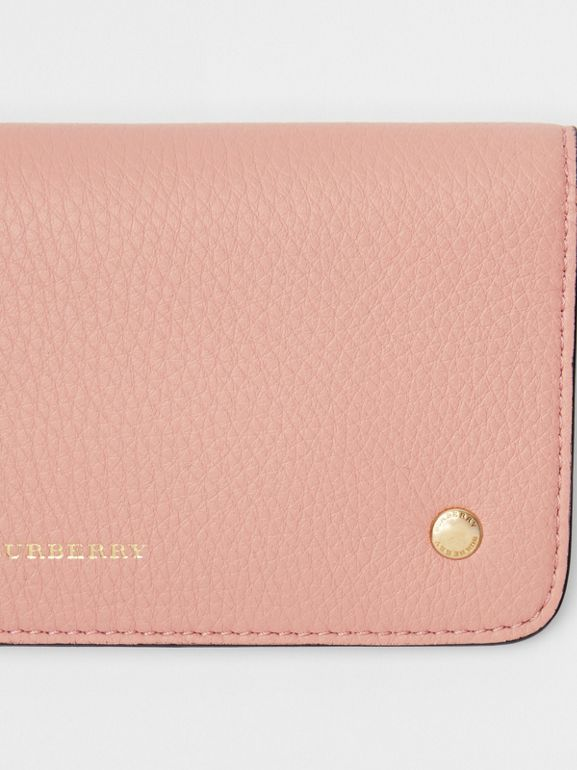 Leather Phone Wallet in Ash Rose - Women | Burberry United Kingdom - cell image 1