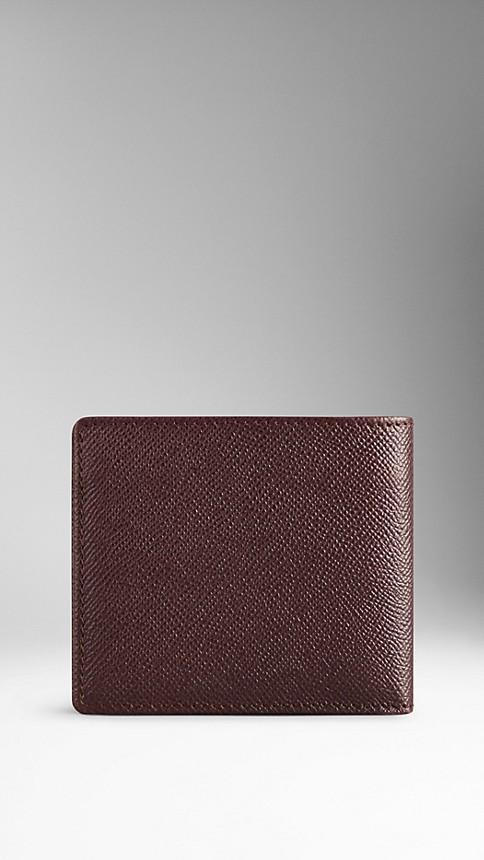 Deep claret London Leather Folding Wallet Deep Claret - Image 2