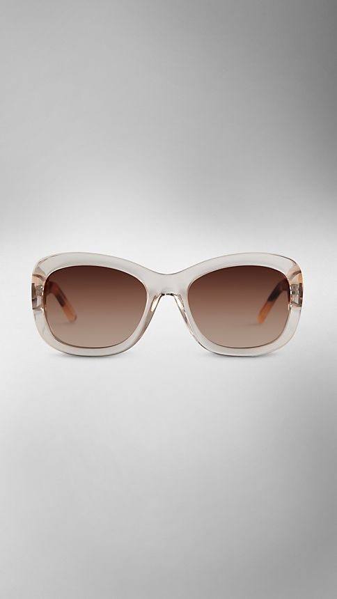 Clear horn Trench Collection Round Frame Sunglasses - Image 2
