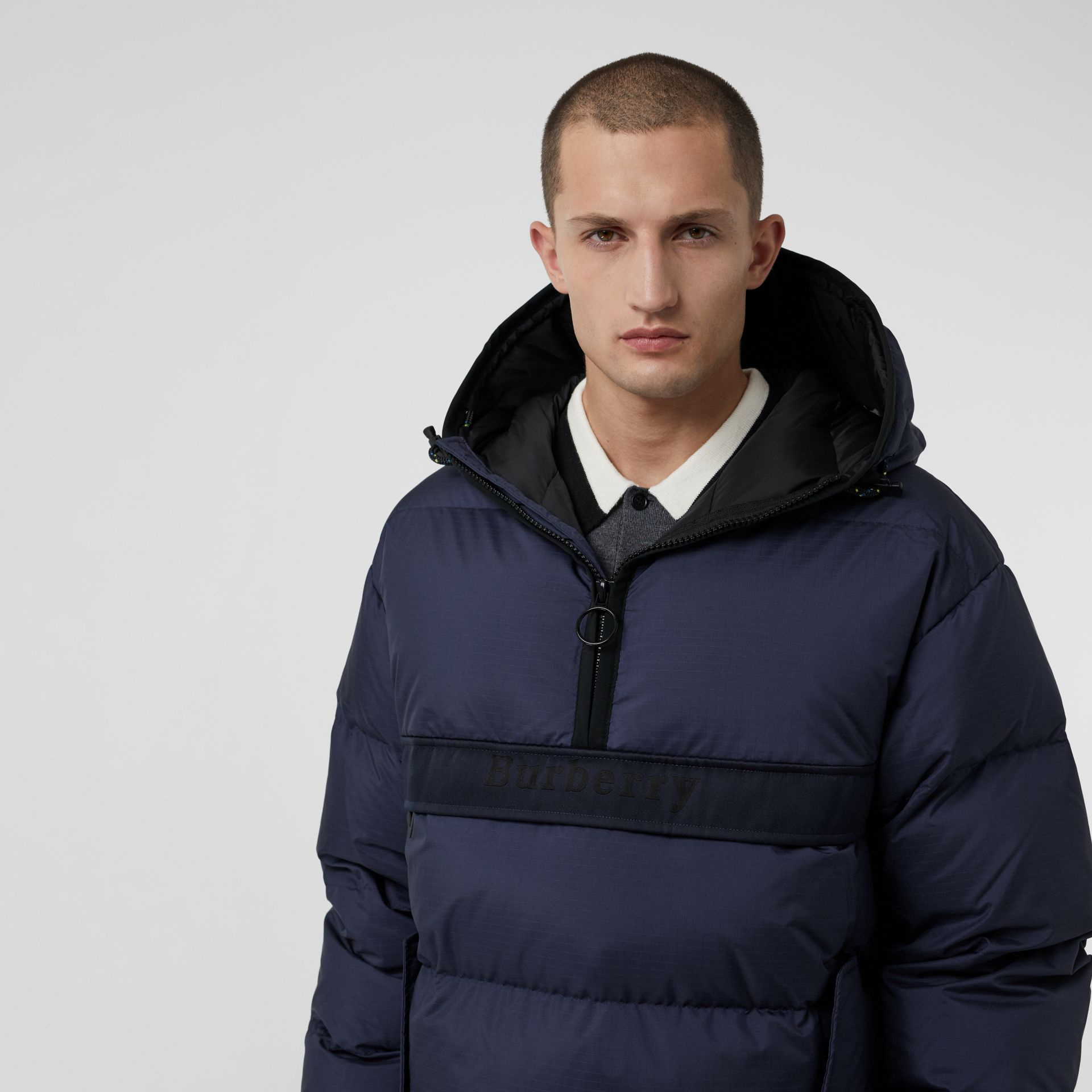 Down-filled Anorak with Detachable Mittens in Ink - Men | Burberry United Kingdom - gallery image 5