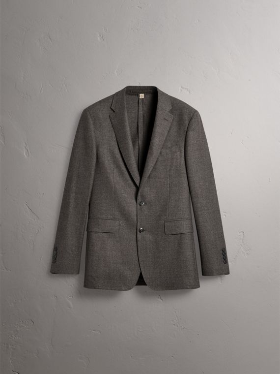 Soho Fit Wool Flannel Suit in Dark Charcoal Melange - Men | Burberry Canada - cell image 3