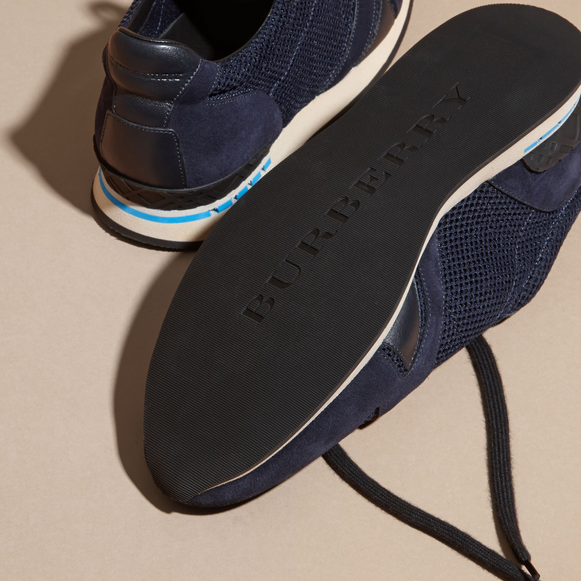 Navy The Field Sneaker in Suede and Mesh Navy - gallery image 5