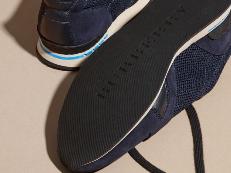 Navy The Field Sneaker in Suede and Mesh Navy - cell image 4