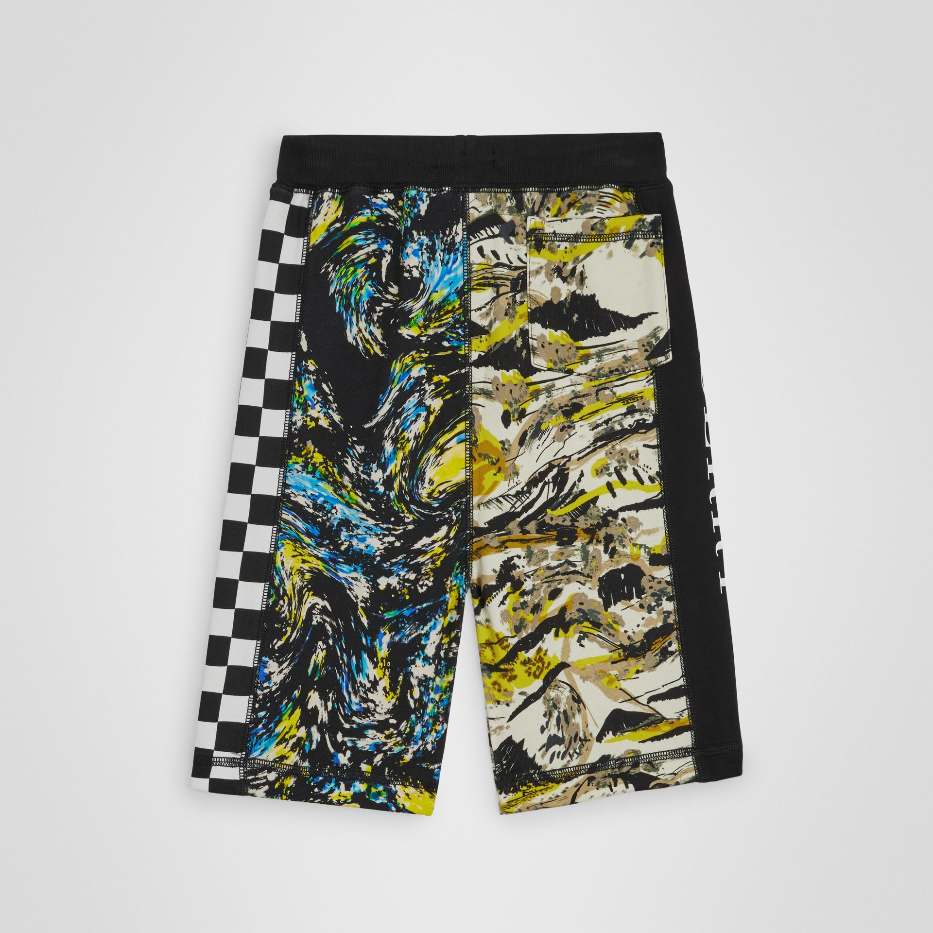 Graphic Print Cotton Drawcord Shorts in Multicolour | Burberry Singapore - gallery image 3