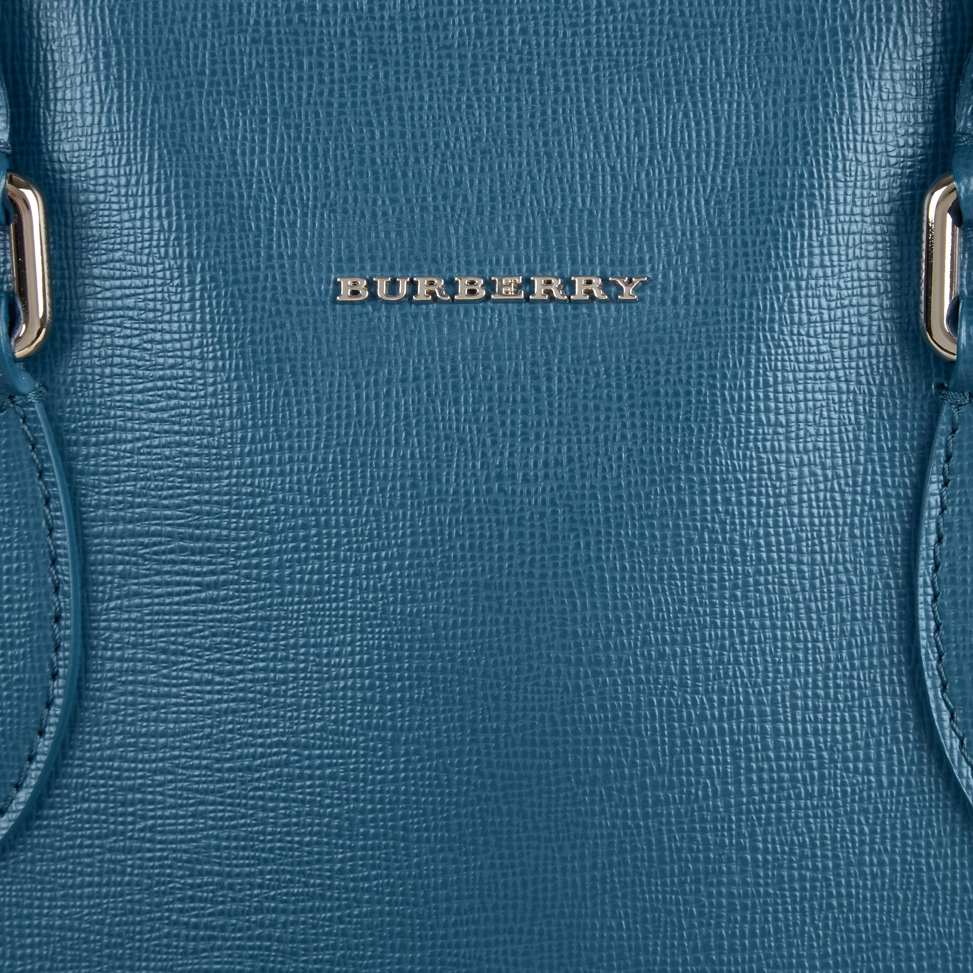 London Leather Tote Bag in Mineral Blue - gallery image 2