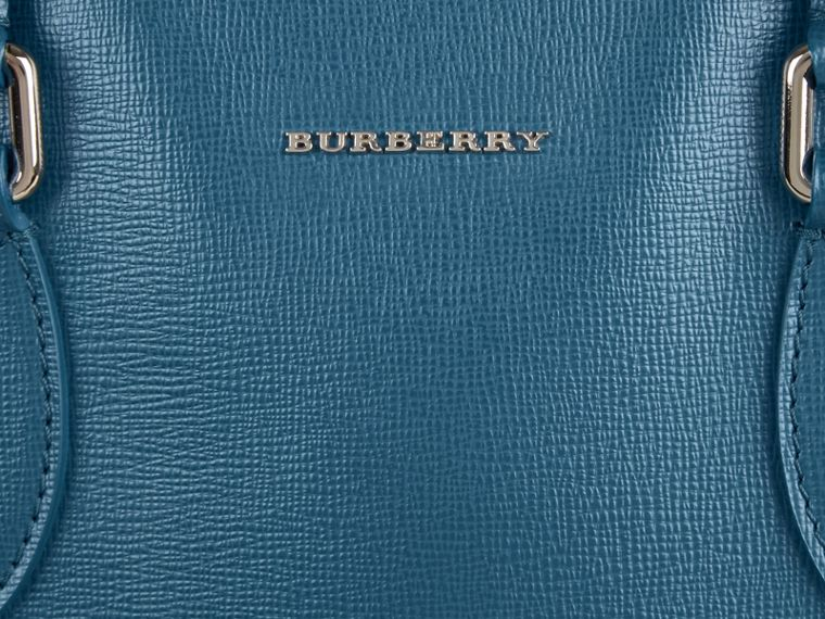 London Leather Tote Bag in Mineral Blue - Men | Burberry - cell image 1