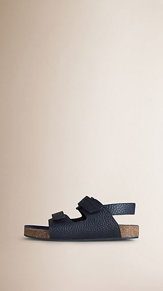 Grainy Leather Sandals
