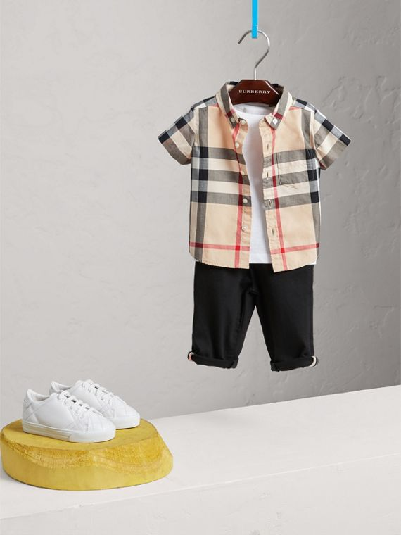Check Cotton Twill Shirt in New Classic - Boy | Burberry United States - cell image 2