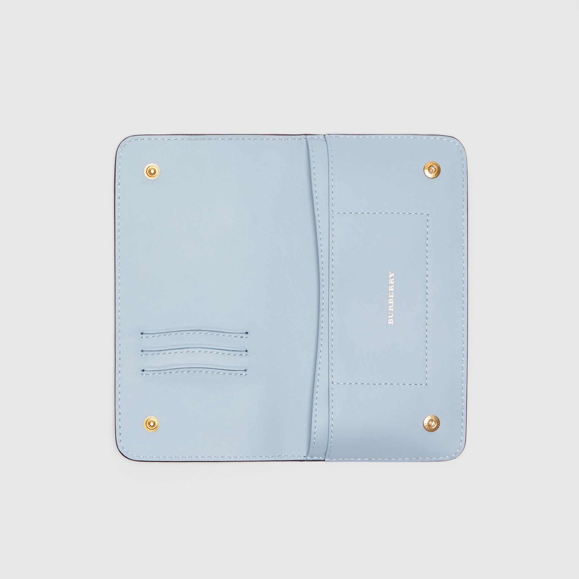 EKD Leather Phone Wallet in Regency Blue - Women | Burberry Australia - gallery image 2