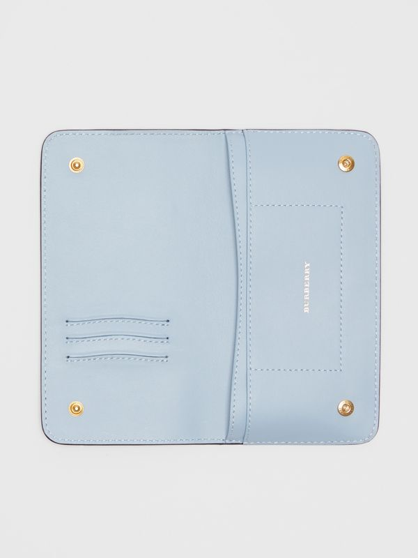 EKD Leather Phone Wallet in Regency Blue - Women | Burberry - cell image 2