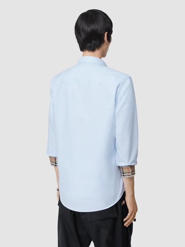 Monogram Motif Cotton Oxford Shirt in White - Men | Burberry - cell image 2