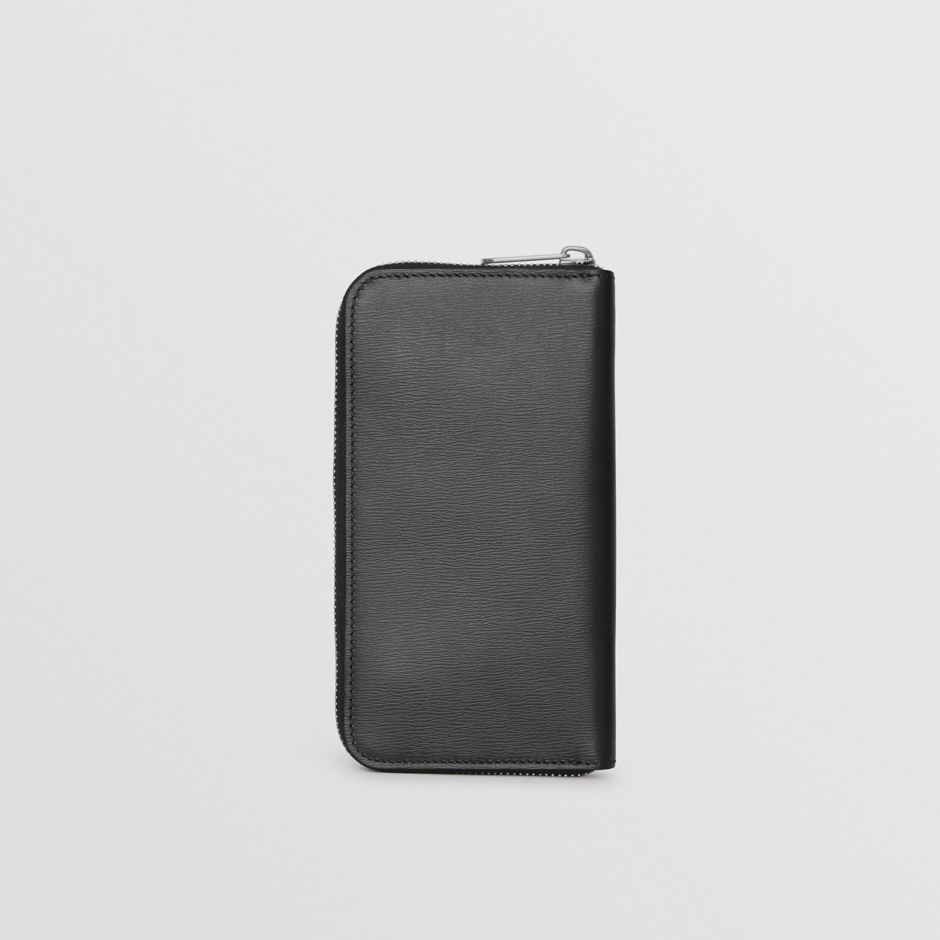 London Leather Ziparound Wallet in Black - Men | Burberry Australia - gallery image 5