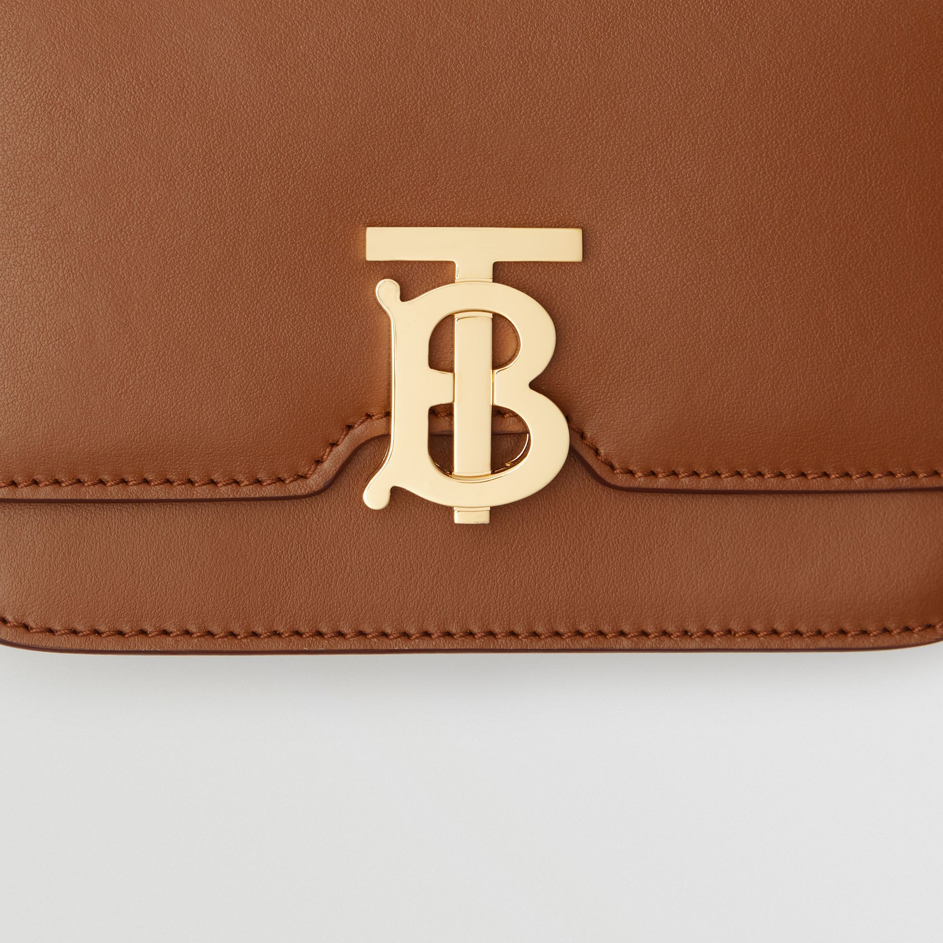 Belted Leather TB Bag in Malt Brown - Women | Burberry Australia - gallery image 8