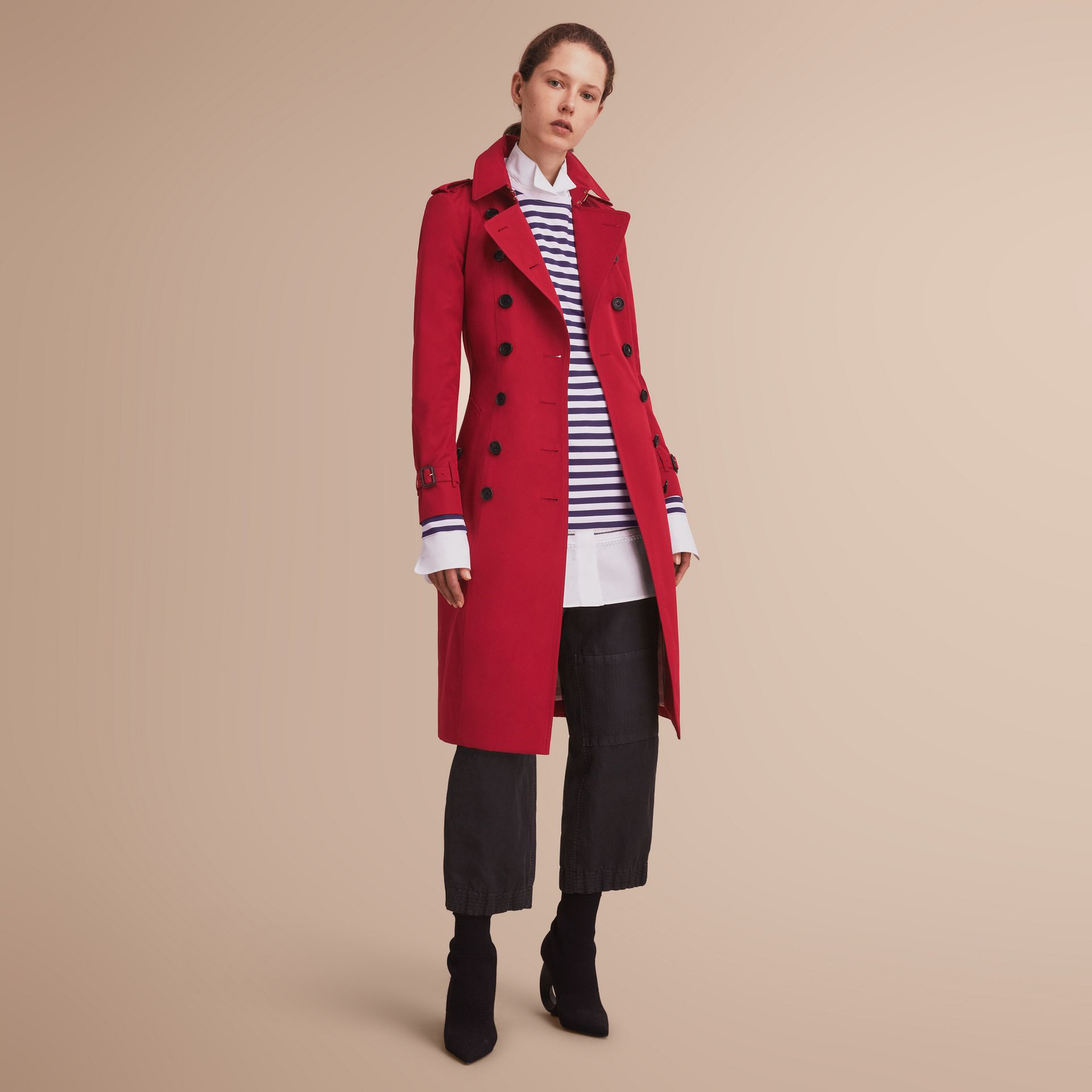 The Chelsea – Extra-long Heritage Trench Coat in Parade Red - gallery image 7