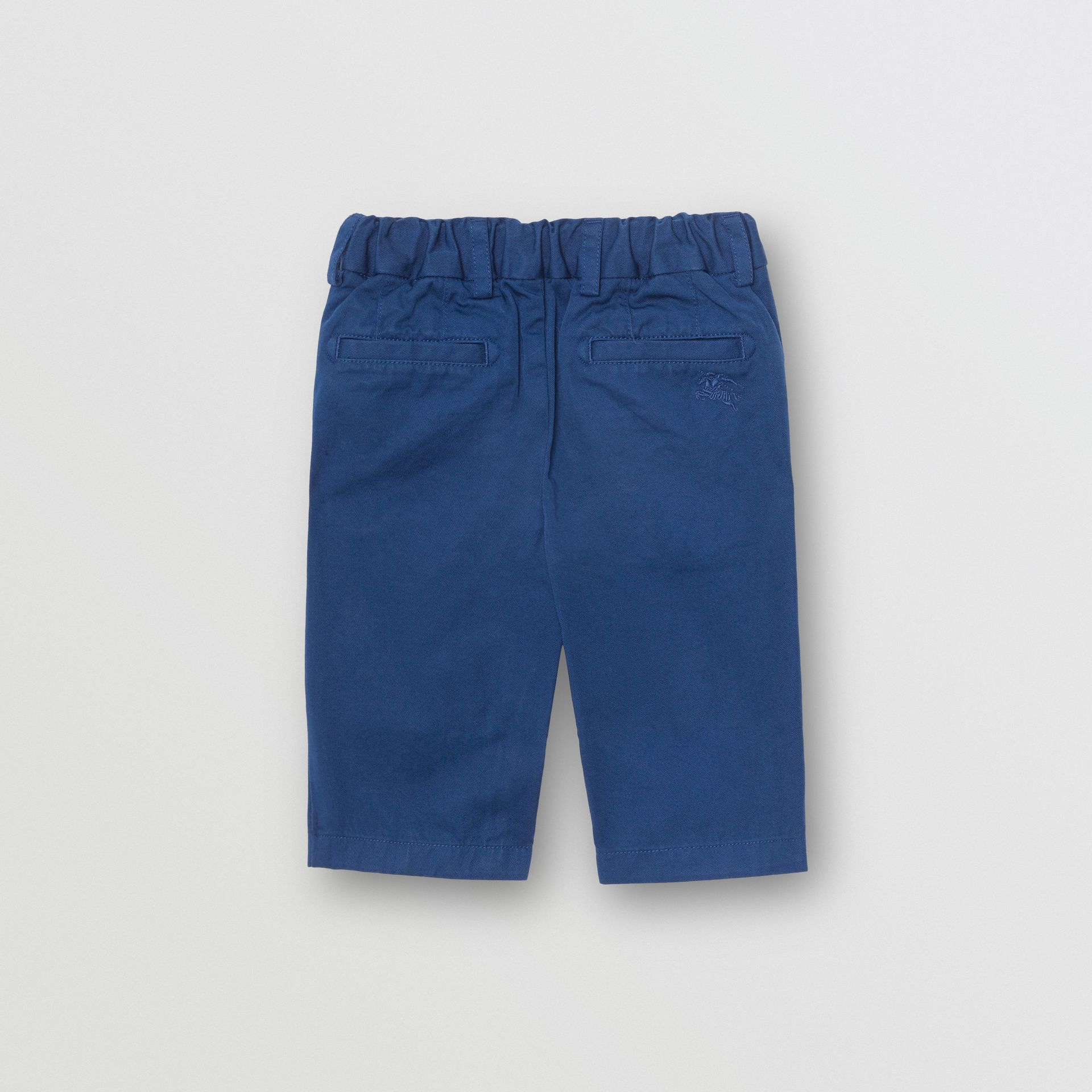 Cotton Chinos in Bright Navy | Burberry - gallery image 3