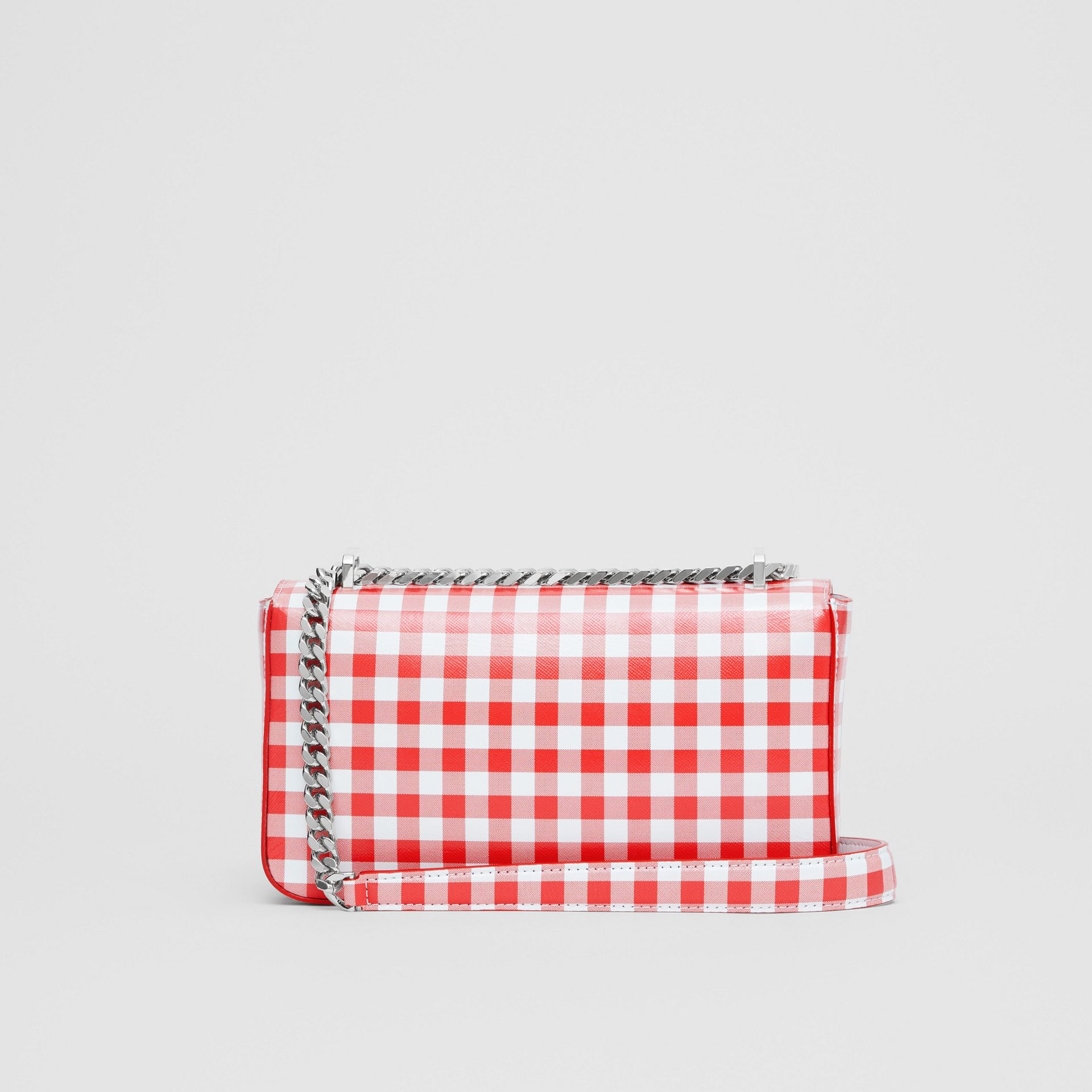 Small Gingham Leather Lola Bag in Red - Women | Burberry - gallery image 5
