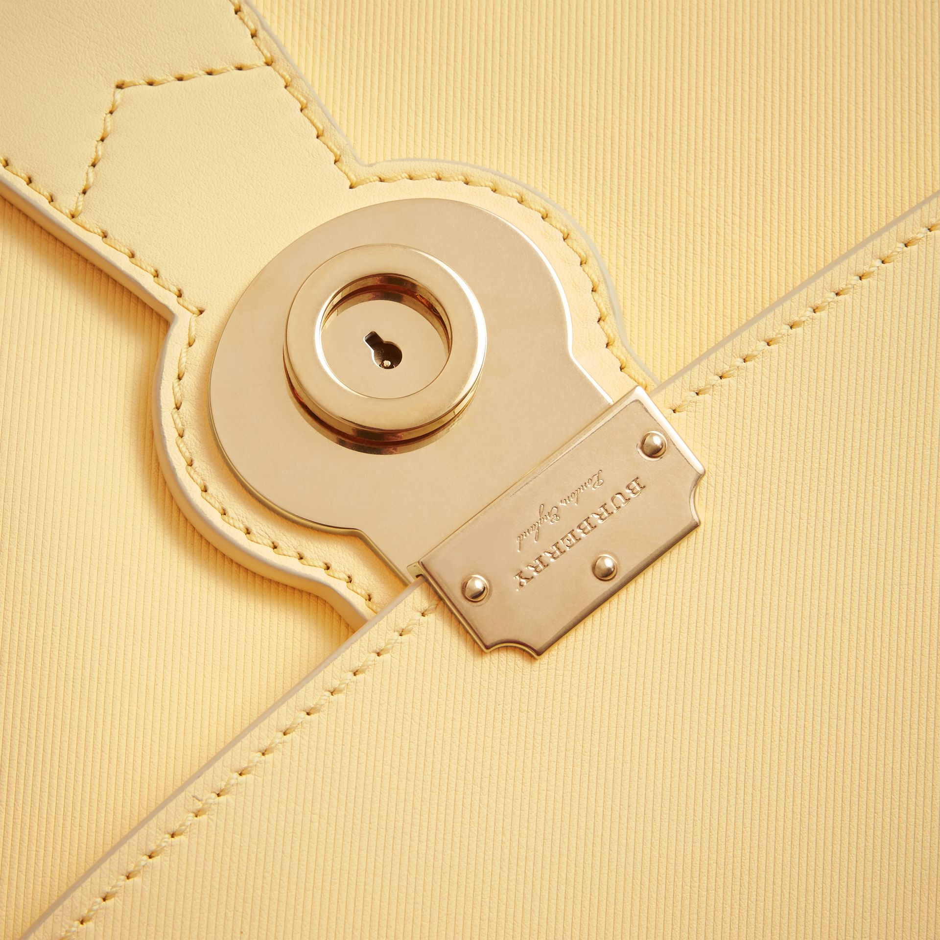 The Medium DK88 Top Handle Bag in Camomile Yellow - Women | Burberry - gallery image 2