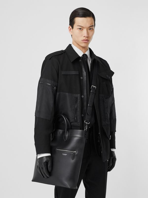 Leather Tote in Black - Men | Burberry United Kingdom - cell image 3