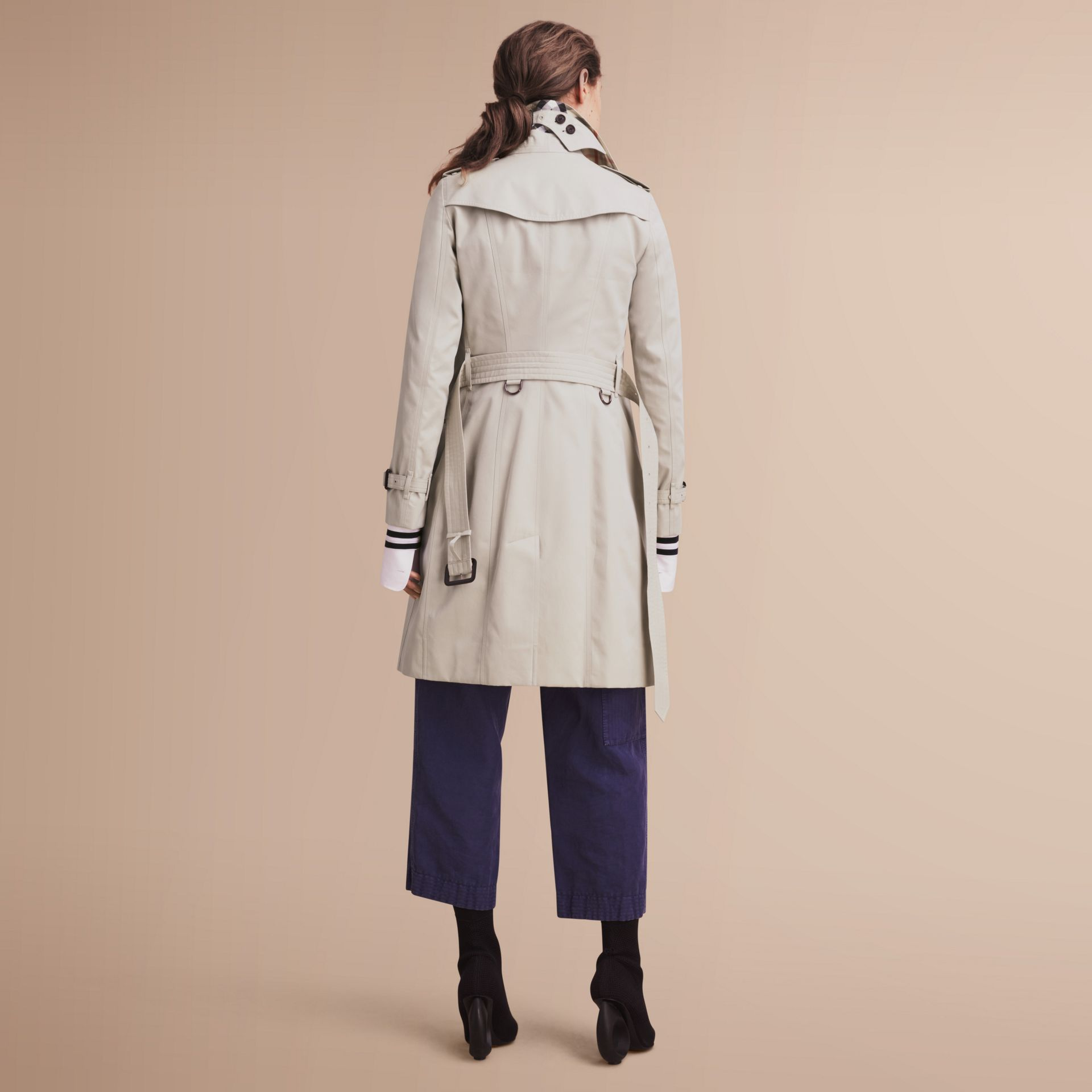 The Sandringham – Long Heritage Trench Coat in Stone - gallery image 3