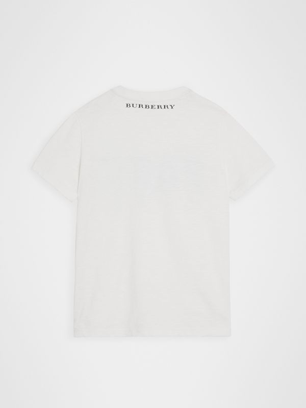 Skate Park Life Cotton T-shirt in White | Burberry United Kingdom - cell image 3