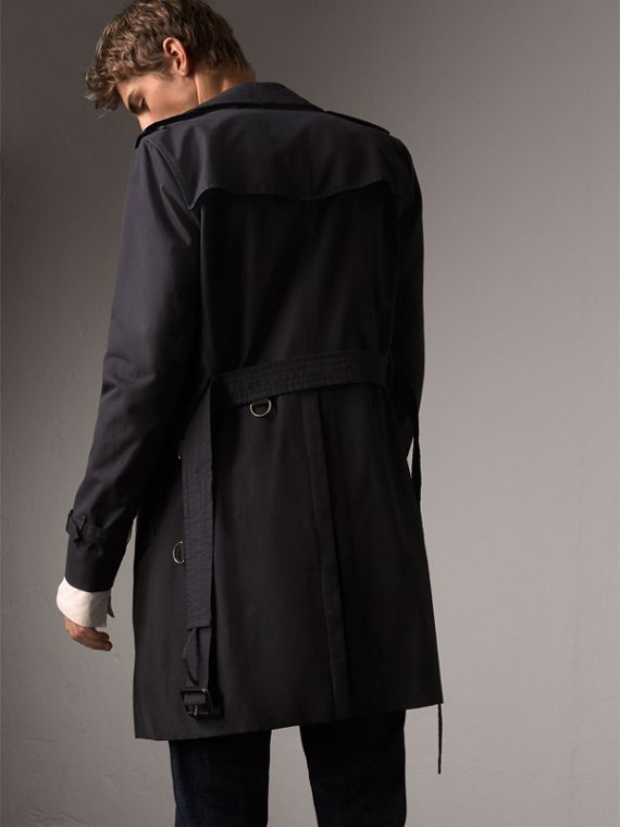 The Sandringham – Long Trench Coat in Navy - Men | Burberry - cell image 2