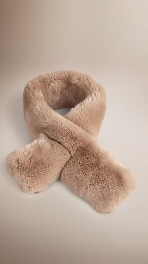 Nude Rabbit Fur Collar - Image 1
