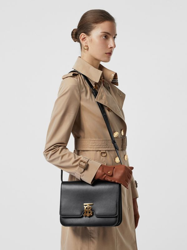 Medium Leather TB Bag in Black - Women | Burberry Australia - cell image 3