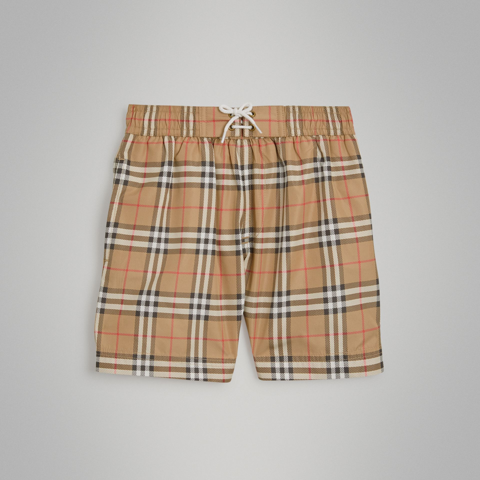 Short de bain à motif Vintage check (Camel) | Burberry - photo de la galerie 0