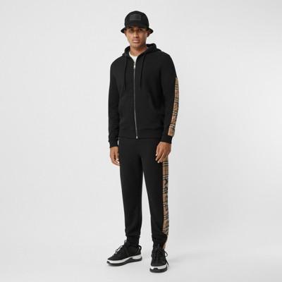 Veste à capuche en coton avec Vintage check et logo (Noir) Homme | Burberry