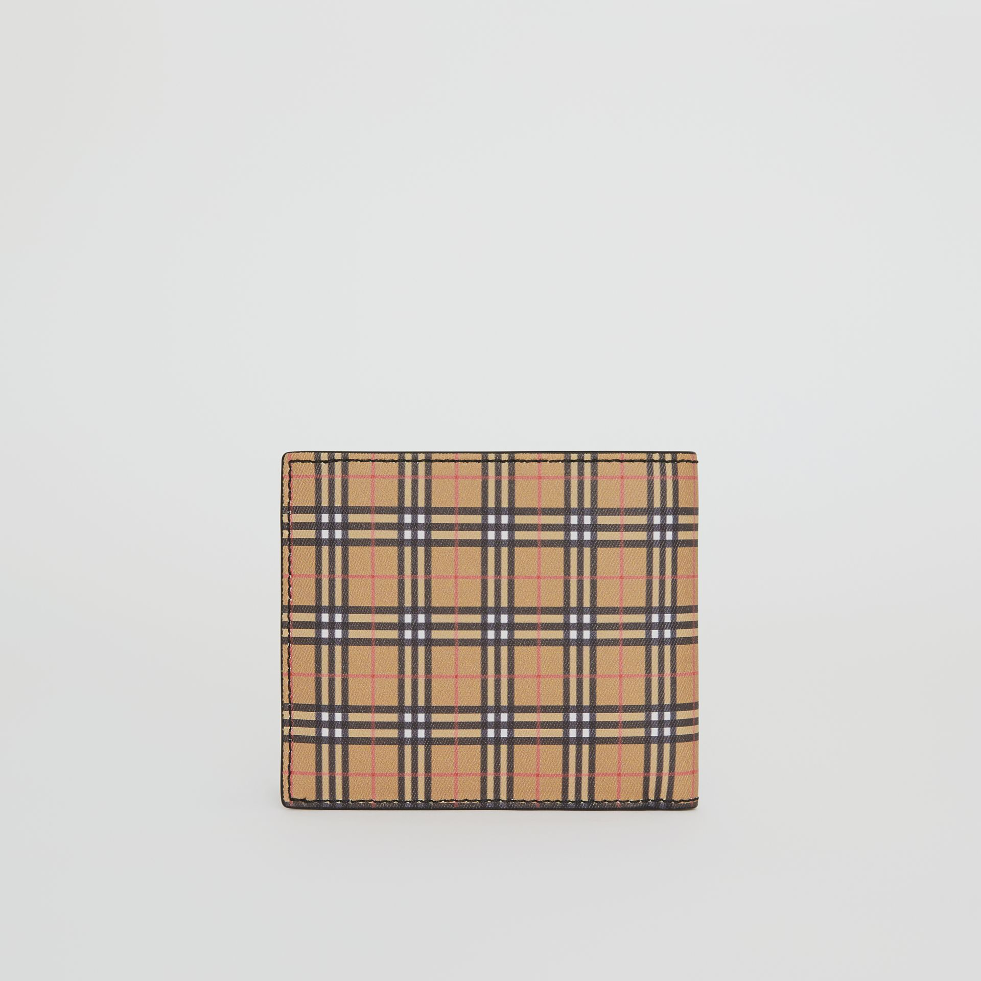 Small Scale Check International Bifold Wallet in Antique Yellow/black - Men | Burberry United States - gallery image 2