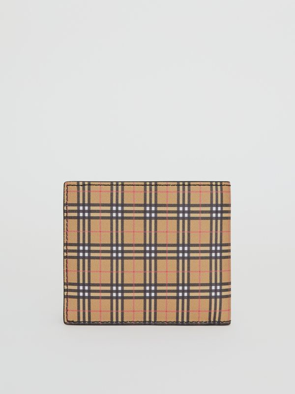 Small Scale Check International Bifold Wallet in Antique Yellow/black - Men | Burberry Singapore - cell image 2