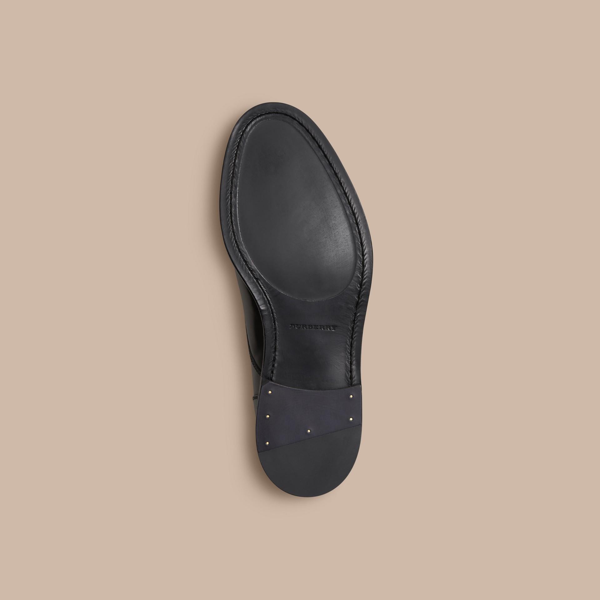 Schwarz Derby-Schuhe aus Leder Schwarz - Galerie-Bild 5