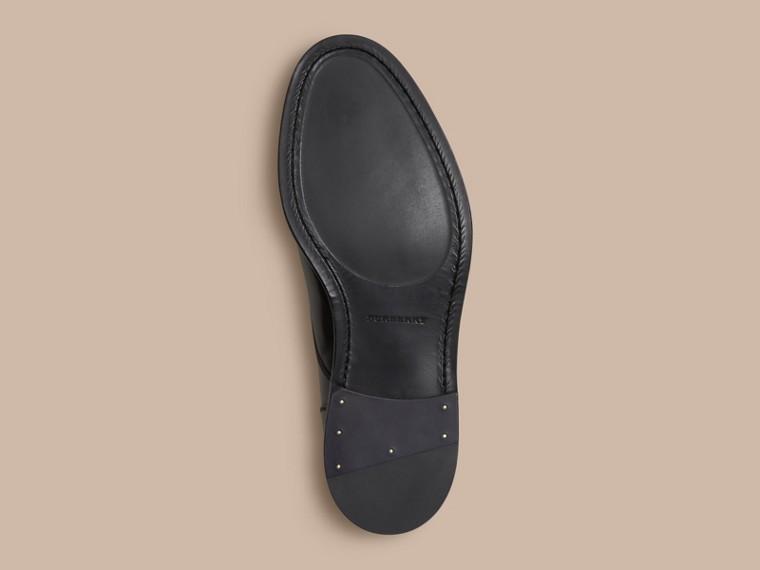 Schwarz Derby-Schuhe aus Leder Schwarz - cell image 4