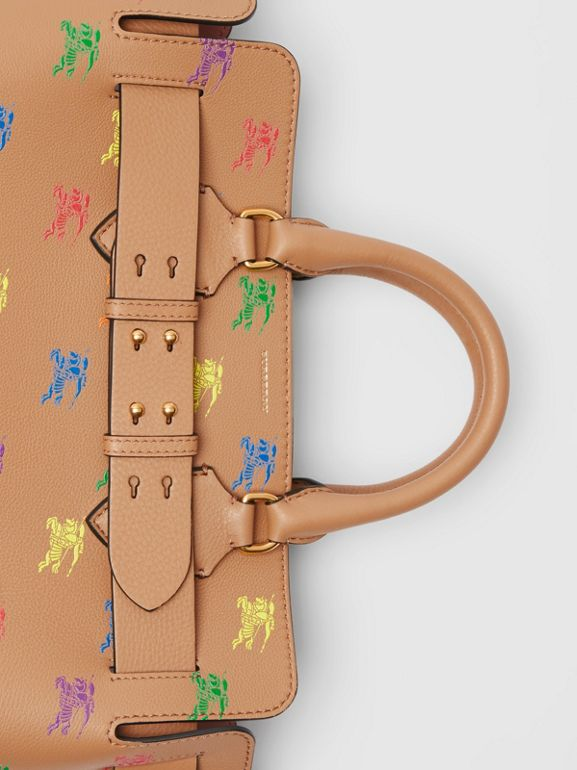 The Medium Equestrian Knight Leather Belt Bag in Light Camel - Women | Burberry - cell image 1