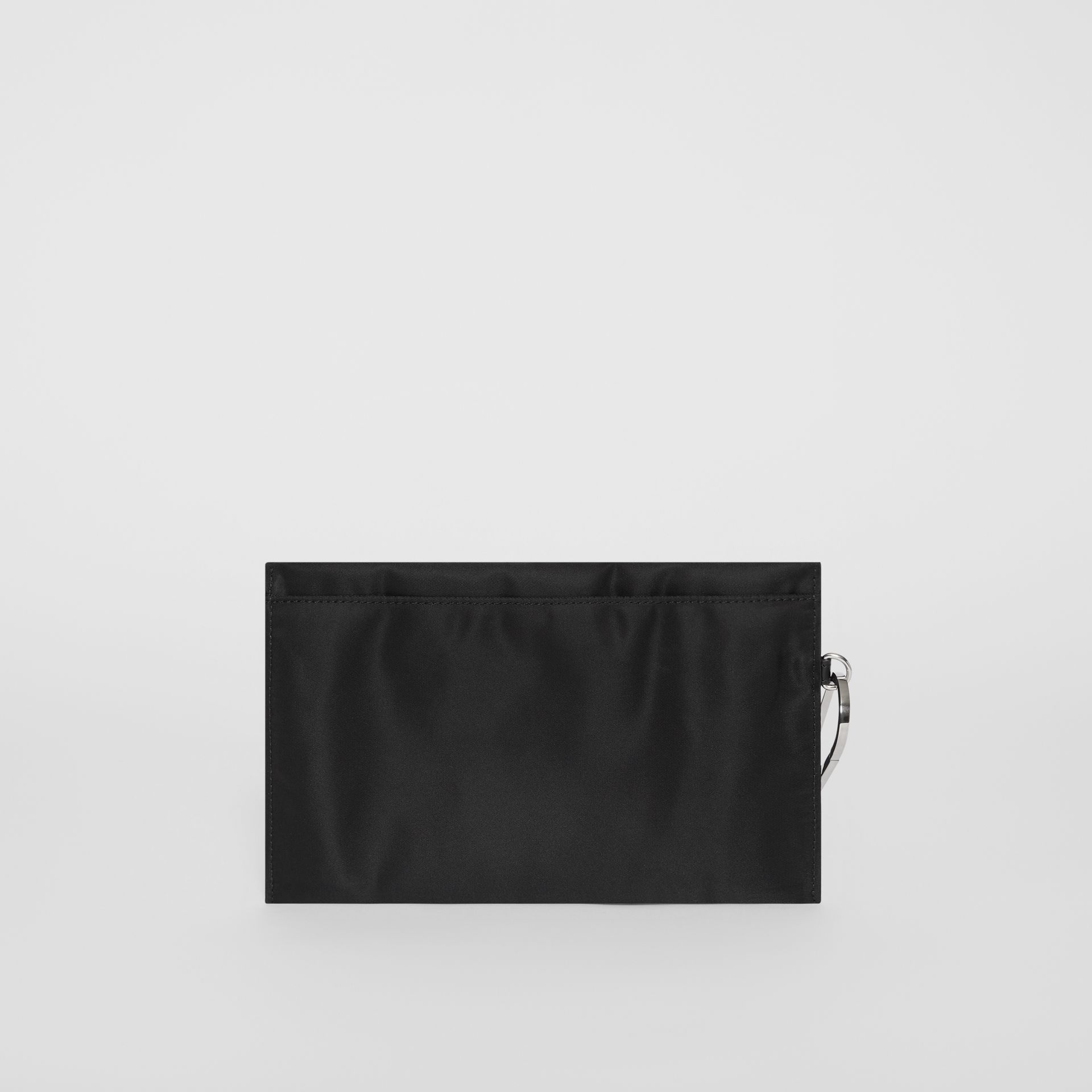 Logo Print Nylon Zip Pouch in Black - Women | Burberry United States - gallery image 6