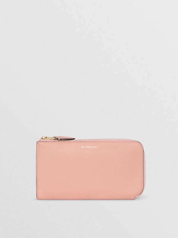Two-tone Leather Ziparound Wallet and Coin Case in Ash Rose - Women | Burberry - cell image 2