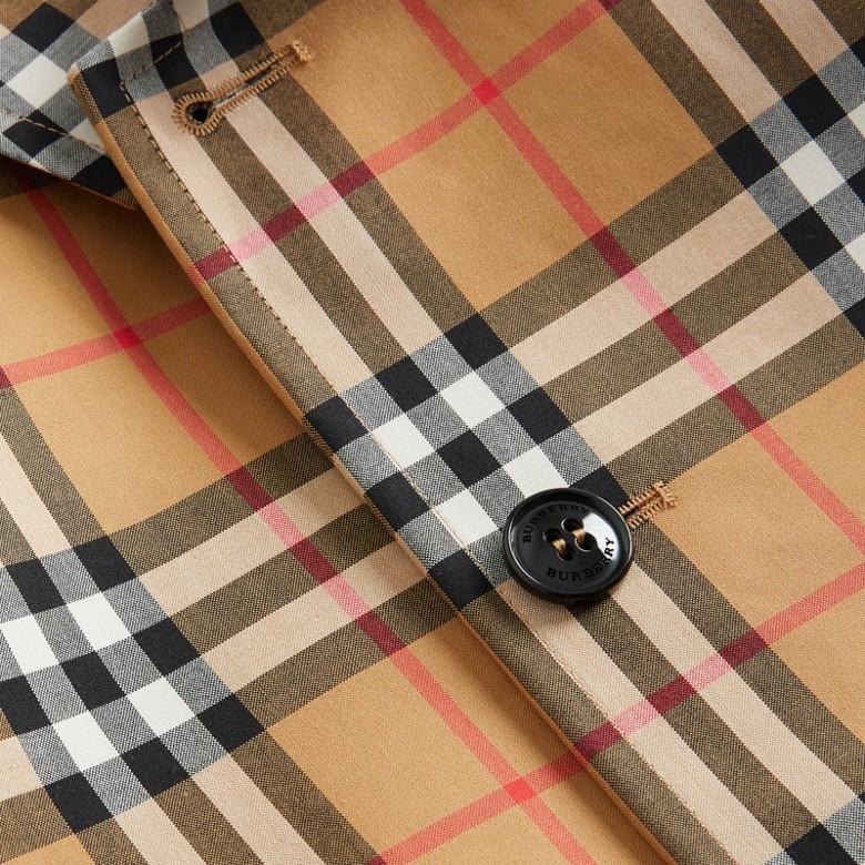 Burberry - Paletot en coton à motif Vintage check - 2