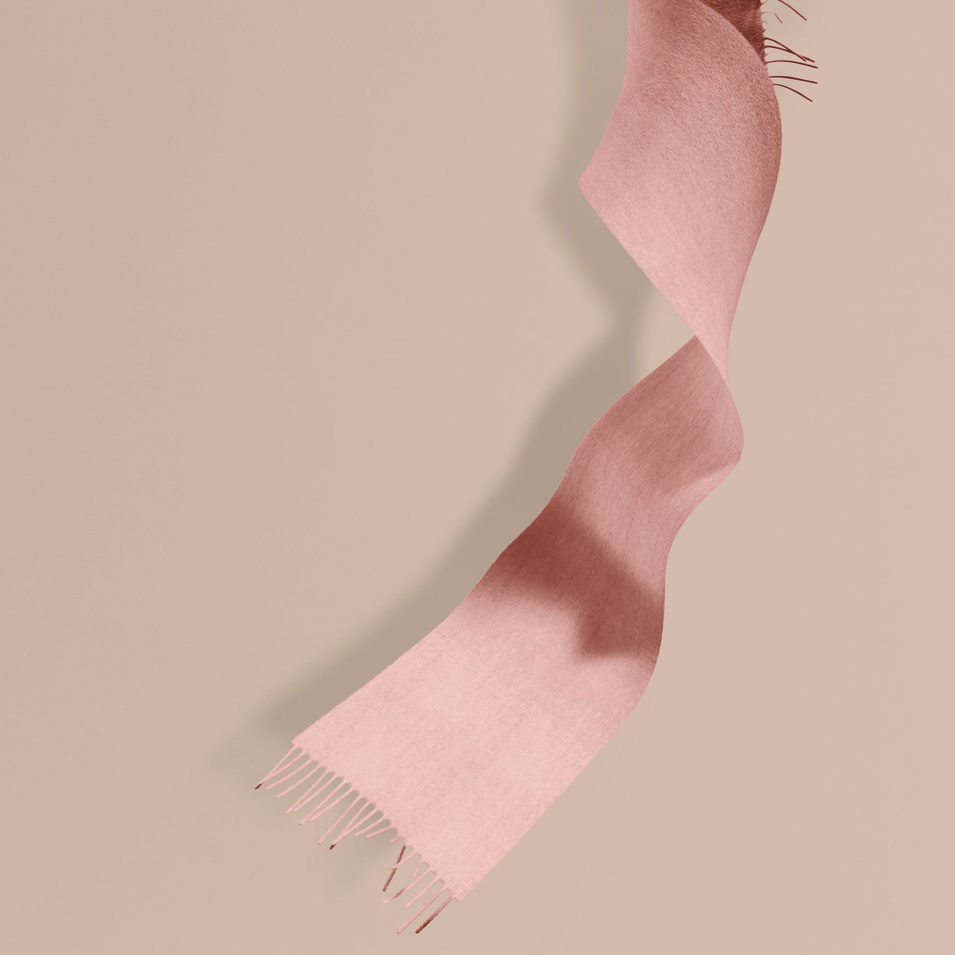 The Mini Classic Cashmere Scarf in Ash Rose - Girl | Burberry Canada - gallery image 1
