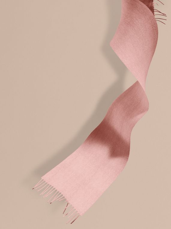 The Mini Classic Cashmere Scarf in Ash Rose - Girl | Burberry