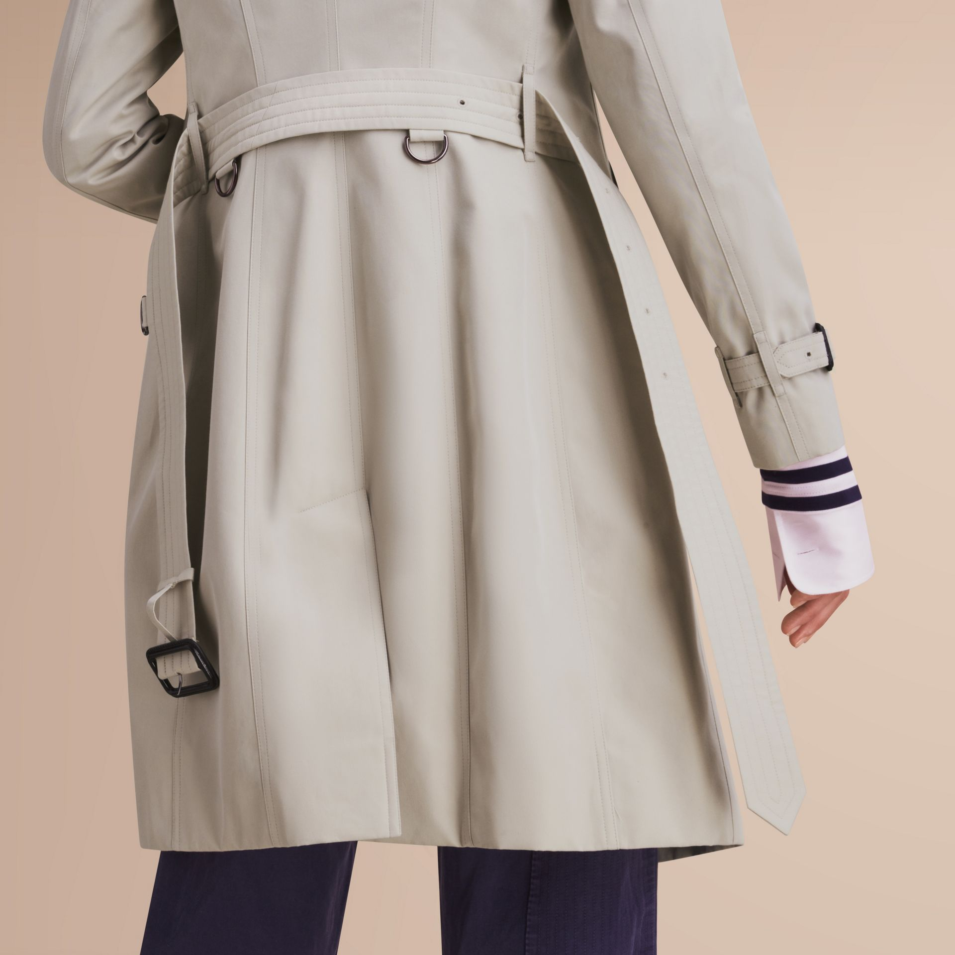 The Sandringham – Long Heritage Trench Coat in Stone - gallery image 6
