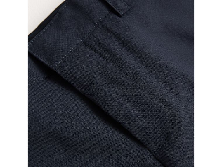 Tailored Wool Trousers in Navy - Boy | Burberry - cell image 1
